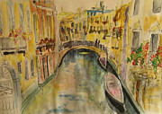 Venice Mixed Media Originals - Venice I. by Paula Steffensen