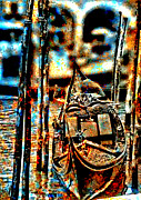 Gondola Digital Art Prints - Venice in Grunge 3 Print by Greg Sharpe
