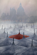 Haze Metal Prints - Venice in rain Metal Print by Joana Kruse