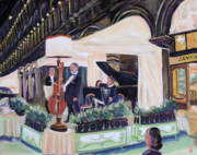 Concert Painting Originals - Venice Italy Evening Concert St Marks SQ by Robert P Hedden