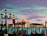 Church Prints Paintings - Venice  Italy by Jasna Gopic