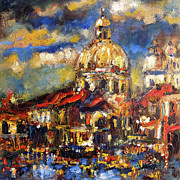 Ginette Fine Art Llc Ginette Callaway Framed Prints - Venice Italy Sparkling at Sunset Framed Print by Ginette Callaway