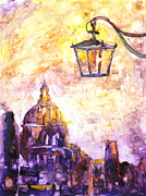 Watercolor Society Prints - Venice Italy watercolor painting on YUPO synthetic paper Print by Ryan Fox
