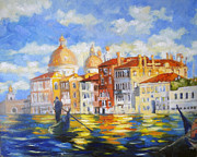 Grande Painting Framed Prints - Venice Framed Print by Julia Mikhailiuk