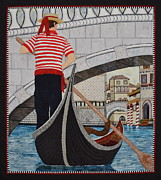 Boat Tapestries - Textiles Framed Prints - Venice Framed Print by Kathy McNeil