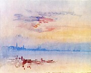 Romanticism Posters - Venice looking east from the Guidecca sunrise 1819 Poster by Joseph Mallord William Turner