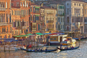 Waterways Prints - Venice palazzi at sundown Print by Heiko Koehrer-Wagner