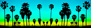 Venice Beach Palms Framed Prints - Venice Palms Framed Print by Scott Harms
