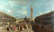Famous Artists - Venice - Piazza San Marco by Francesco Guardi