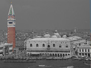 Art Photography Photos - Venice Plaza de San Marco Markusplatz by Art Photography