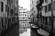 Boats Pyrography Prints - Venice Print by Ran Ezra