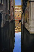 Lights Pastels - Venice Reflections - Pastel  by Ben Kotyuk