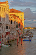 Canal Grande Prints - Venice romantic evening Print by Heiko Koehrer-Wagner