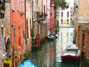 John Tidball Metal Prints - Venice Side Canal Metal Print by John Tidball