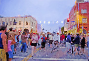 Joggers Prints - Venice Sign Lighting Print by Chuck Staley