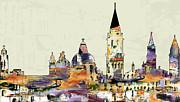 Ginette Callaway - Venice Skyline Modern Art