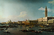 Delacroix Prints - Venice The Basin of San Marco on Ascension Day Print by MotionAge Art and Design - Ahmet Asar