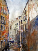 Gondolier Painting Prints - Venice Travelling Print by Carolyn Jarvis