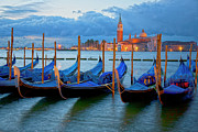 Canals Framed Prints - Venice View to San Giorgio Maggiore Framed Print by Heiko Koehrer-Wagner