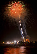 Ventura California Photos - Ventura CA Fair Fireworks by John Rodriguez