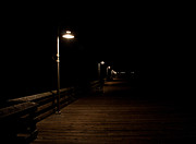 Night Lamp Photo Posters - Ventura Pier at Night Poster by John Daly