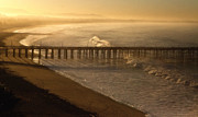 Ventura Pier At Sunrise Print by John Rodriguez