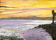 Ventura California Originals - Ventura Point at Sunset by Ian Donley