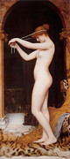 John Digital Art - Venus Binding Her Hair by John William Godward