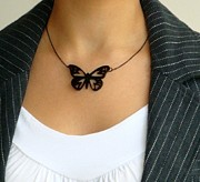 Gothic Jewelry - Venus Butterfly Necklace by Rony Bank