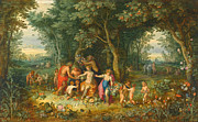 Famous Artists - Venus Ceres and Bacchus by Hendrick van Balen