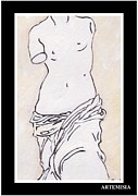 Venus De Milo Framed Prints - Venus de Milo Framed Print by Lucy Beveridge