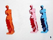Statue Portrait Mixed Media Prints - Venus de Milo Statue Print by Venus