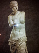 Hand Crafted Tapestries - Textiles - Venus from Milo by Printz Viorica