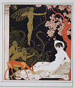 Snakes Framed Prints - Venus Framed Print by Georges Barbier