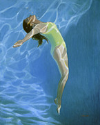 Copley Paintings - Venus Goes H2o  by Candace Lovely