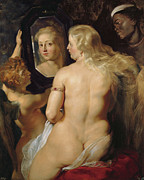 Rubens Digital Art Metal Prints - Venus In A Mirror Metal Print by Peter Paul Rubens