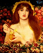 Rossetti Painting Framed Prints - Venus Verticordia Framed Print by Pg Reproductions