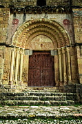 Medieval Temple Photo Prints - Vera Cruz Door Print by Joan Carroll