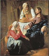 Christ Pictures Prints - Vermeer, Johannes 1632-1675. Christ Print by Everett