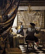 Youthful Photo Framed Prints - Vermeer, Johannes 1632-1675. The Framed Print by Everett