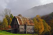 Vermont Autumn Barn Print by Joseph Rossbach