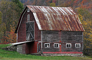 Maple Photographs Framed Prints - Vermont Barn Art Framed Print by Juergen Roth
