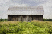 Clouds Deborah Benoit Framed Prints - Vermont Barn in Oil Framed Print by Deborah Benoit