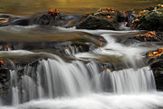 New England Fall Photos Prints - Vermont Bartlett Waterfall Cascades Print by Juergen Roth