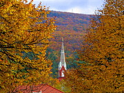 Vickie Fears Prints - Vermont Church Steeple Print by Vickie Fears