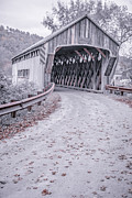 Road Posters - Vermont Covered Bridge Poster by Edward Fielding