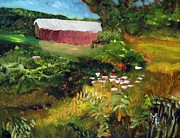 Covered Bridge Paintings - Vermont Covered Bridge by Michael Helfen
