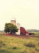 Silo Framed Prints - Vermont Family Farm Framed Print by Edward Fielding