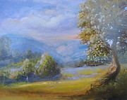 League Painting Prints - Vermont Mists Print by Patricia Kimsey Bollinger