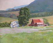 Aster Paintings - Vermont  Summer Farm by Karol Wyckoff